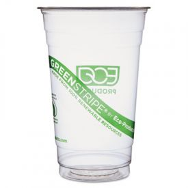 Eco-Products® GreenStripe Cold Drink Cups, 20 oz, Clear
