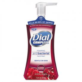 Dial® Antimicrobial Foaming Hand Soap, Power Berries, 7.5oz Pump