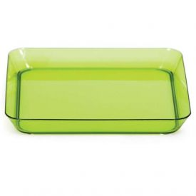 Trendware Translucent Green Square Plates 5