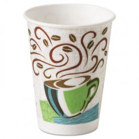 Dixie® PerfecTouch® Paper Hot Cups, 8 oz, Coffee Haze Design,