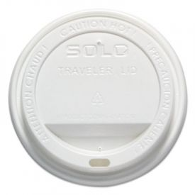 SOLO® Cup Traveler® Drink-Thru Lid, White