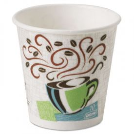 Dixie® PerfecTouch® Paper Hot Cups, 10 oz., Coffee Haze Design