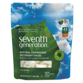 Seventh Generation® Natural Dishwasher Packs, Free & Clear, 45 Pckts