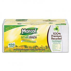 Marcal® 100% Recycled Luncheon Napkins,12-1/2 x 11-2/5, White