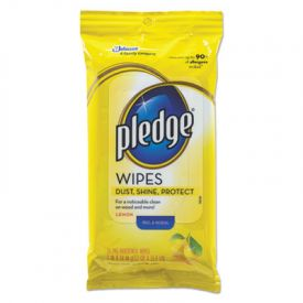 Pledge® Wipes, Cloth, 7 x 10, White, 24/Pack