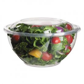 Eco-Products® Salad Bowls with Lids, Plant-Based Plastic, 32 oz