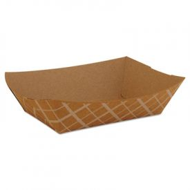 SCT® Paper Food Baskets, Brown/White Check, 2 lb Cap.