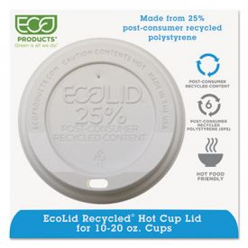 Eco-Products® EcoLid® 25% Recycled Content, Fits 10-20 oz Cups