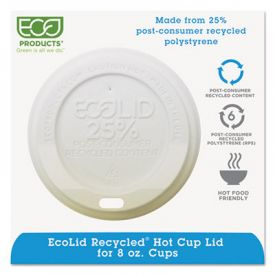 Eco-Products® EcoLid® 25% Recycled Content, Fits 8 oz Cups
