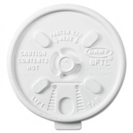 Dart® Lift n' Lock Plastic Hot Cup Lids, Fits 6-10oz Cups