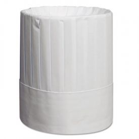 Royal Pleated Chef's Hats, Paper, White, Adjustable, 9