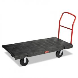 Rubbermaid® Commercial Platform Truck, 2000-lb Cap., 30w x 60d x 7h, Black
