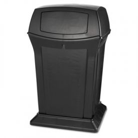 Rubbermaid® Commercial Ranger Fire-Safe Container, Square, 45 gal, Black