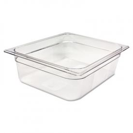 Rubbermaid® Commercial Cold Food Pans, 7 7/8qt, 10 3/8w x 12 4/5d x 4h, Clear