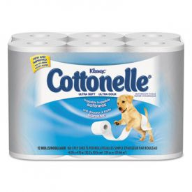 Cottonelle® Ultra Soft Bath Tissue, 1-Ply, 165 Sheets/Roll