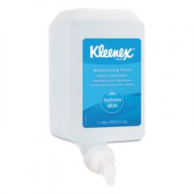 Kleenex® Moisturizing Foam Hand Sanitizer, 1000ML, Foamer Disp. Bottle
