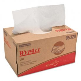 WypAll* L10 Utility Wipes, 9 x 10.5, POP-UP Box, White