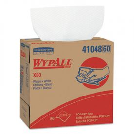 WypAll* X80 Wipers, 9 1/10 x 16 4/5, White, POP-UP Box