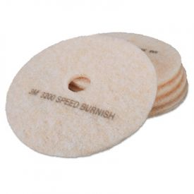 3M TopLine Burnishing Floor Pads 3200, 24-Inch, White/Amber