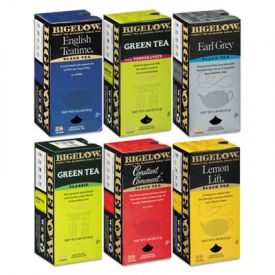 Bigelow® Assorted Tea Bags, Six Flavors, 28 Bags Of Each Flavor