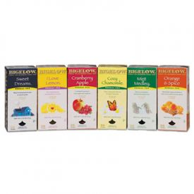 Bigelow® Assorted Herbal Tea Bags, Six Flavors, 28 Bags Of Ea.