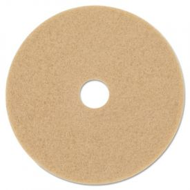 3M Ultra High-Speed Burnishing Floor Pads 3400, 27-Inch, Tan