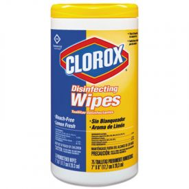 Clorox® Disinfecting Wipes, 7 x 8, Lemon Fresh