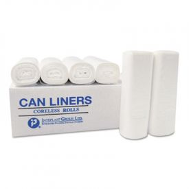 Inteplast Group High-Density Can Liners, 24 x 24, 10-Gallon, 6 Microns