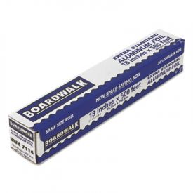 Boardwalk® Premium Quality Aluminum Foil Roll, 18 in x 500 ft, 16 Microns