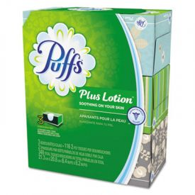 Puffs® Plus Lotion Facial Tissue, White, 2-Ply