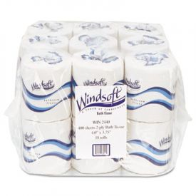 Windsoft® Embossed Bath Tissue, 2-Ply, White