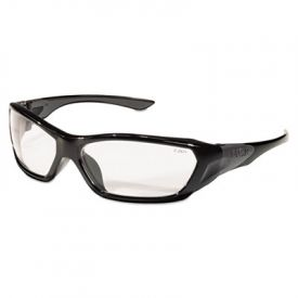 Crews® Forceflex Professional Safety Glasses, Black Frame, Clear Lens
