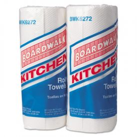 Boardwalk® Household Perforated Towel Rolls, 2-Ply, White