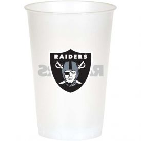 NFL Oakland Raiders 20 oz Printed Plastic Cups