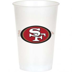 NFL San Francisco 49ers 20 oz Printed Plastic Cups