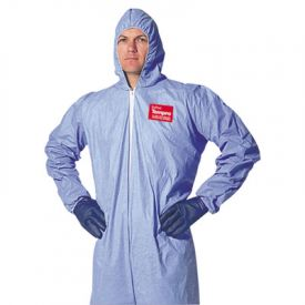 DuPont® Tempro® Elastic-Cuff Hooded Coveralls, Blue, XX-Large