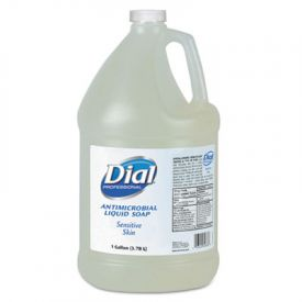 Dial® Sensitive Skin Antimicrobial Soap, Floral Scent, 1 gal Bottle