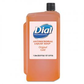 Dial® Professional Gold Antimicrobial Liquid Hand Soap, Liquid, 1 L