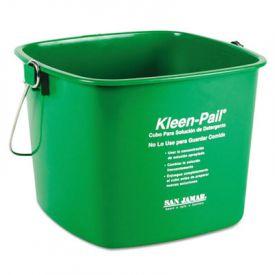 San Jamar® Kleen-Pail®, 6qt, Plastic, Green