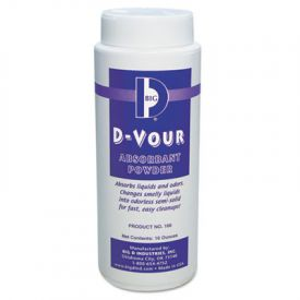 Big D Industries D-Vour Absorbent Powder, Canister, Lemon, 16 oz