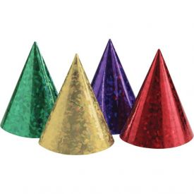 Party Hats Prismatic Assorted Color Paper