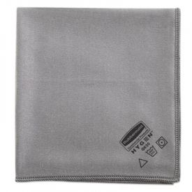 Rubbermaid® Executive Glass Microfiber Cloths, Gray, 16 x 16