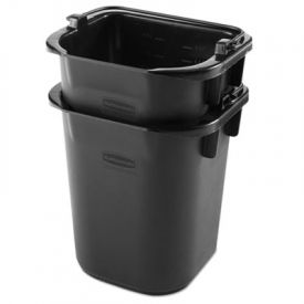 Rubbermaid® Heavy Duty Pail, Black, 5 Quarts, 9.3W x 7.5D x 8.5H