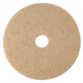 3M Ultra High-Speed Burnishing Floor Pads 3500, 17-Inch, Natural Tan