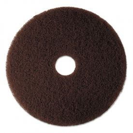 3M Brown Stripping Pads 7100, 17-Inch, Brown