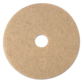 3M Ultra High-Speed Burnishing Floor Pads 3500, 24-Inch, Natural Tan