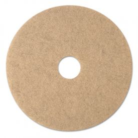 3M Ultra High-Speed Burnishing Floor Pads 3500, 20-Inch, Natural Tan