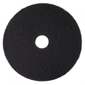 3M High Productivity Floor Pads 7300, 14-Inch, Black