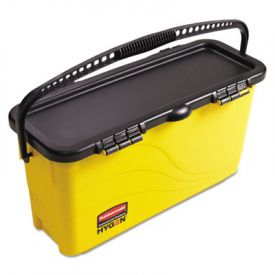 Rubbermaid® HYGENTop Down Charging Bucket, Yellow/Black