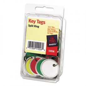 Avery® Metal Rim Key Tags, Card Stock/Metal, Assorted Colors